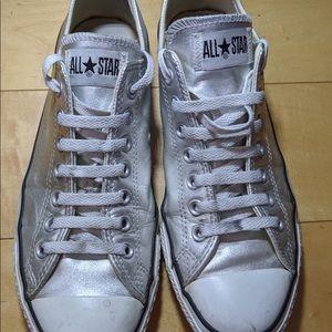 Converse silver men's size 9 women's size 11